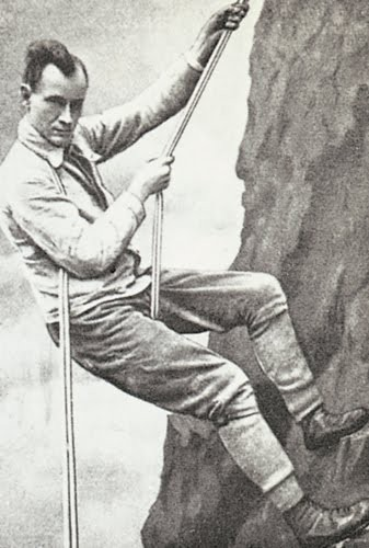 Hans Dülfer předvádí svoji techniku v roce 1910 (f: Cr. commons)